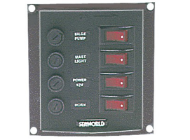 Nylon Electric Vertical panel 4 switches