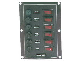 Nylon Electric Vertical panel 6 switches