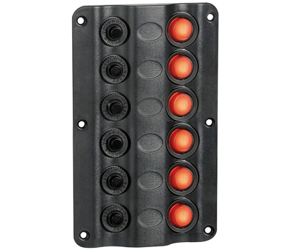 Wave Electric panel type LED 6 switches