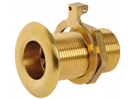 Yellow Brass Flush Thru Hull Threaded Low Edge