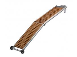 Folding Gangway Inox with Teak Wooden Grating and Buckle