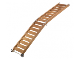 Iroko Super Light Wood Folding Gangway