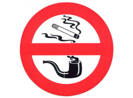 """DO NOT SMOKE"" SELF-ADHESIVE TREM"