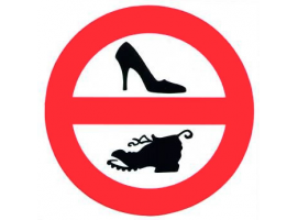 """DO NOT USE SHOES"" SELF-ADHESIVE TREM"