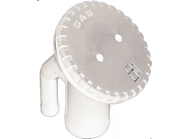 Perko white Vented fill elbow angle neck for hose
