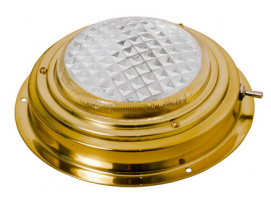 115 mm Led Dome Light in Brass