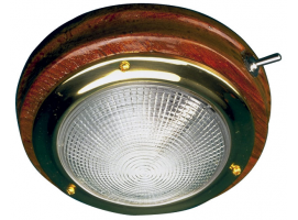 Teak Led Dome Light