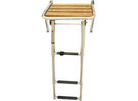 Platform with telescopic ladder Inox 316