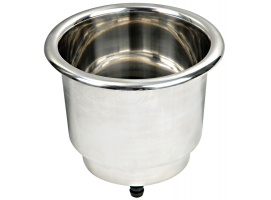 Stainless steel cupholders with LED internal lighting