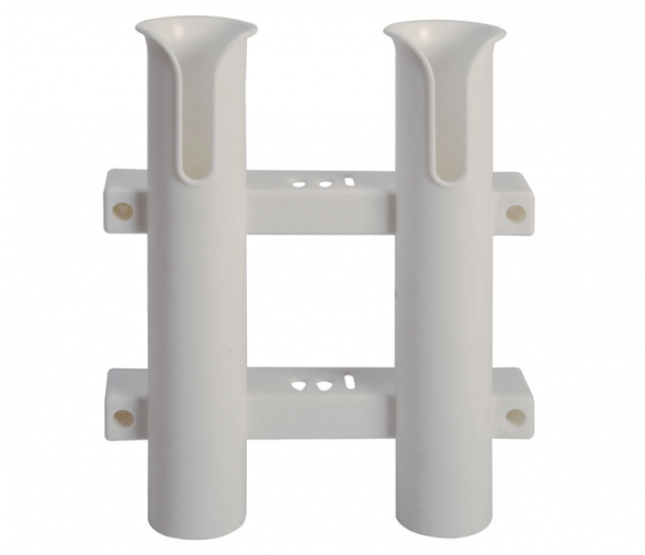 Wall-Mounting Plastic Rod Holder for 2 Rods