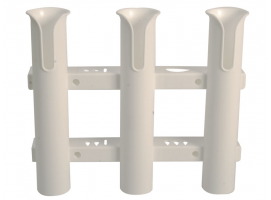 Wall-Mounting Plastic Rod Holder for 3 Rods