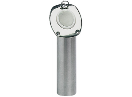 Flush-mount fishing rod holders stainless steel