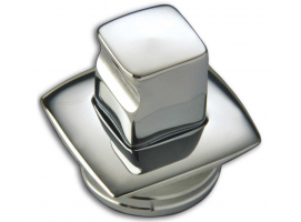 Square Chromed Brass Knob