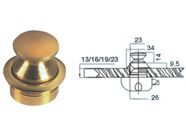 Polished Painted Brass Knob