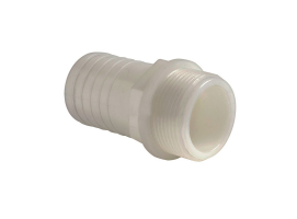 White Nylon Straight Hose Adaptor
