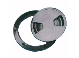 Black Deck Plate with Rotating Closure Trem