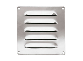 120 x 120 mm Inox Louvered Vent
