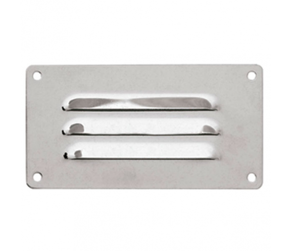 127 x 66 mm Inox Louvered Vent