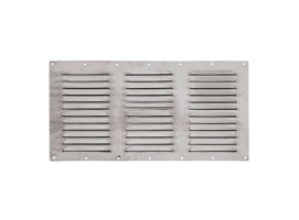360 x 185 mm Inox Louvered Vent