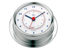 Clock Barigo Sky Stainless Steel Polished White Face