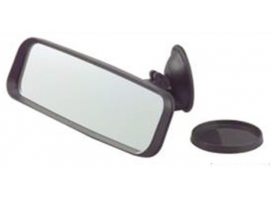 Mirror with suction pad