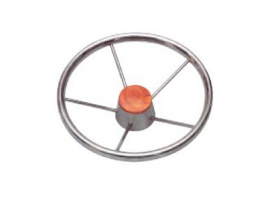Inox 390 mm Diameter Steering Wheel