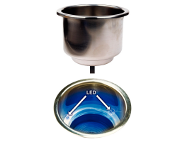 Seachoice Stainless steel with LED Cupholder