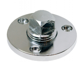 Seachoice Drainage Cap and Base in Stainless Steel