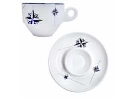 ESPRESSO CUP & SAUCER SET NORTHWIND 6 units MARINE BUSINESS
