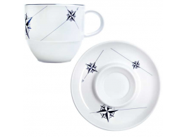 TEA CUP & SAUCER SET NORTHWIND 6 units MARINE BUSINESS