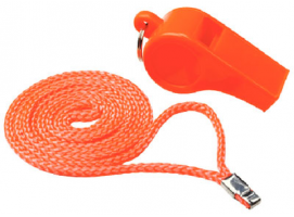 Orange Whistle with Lanyard