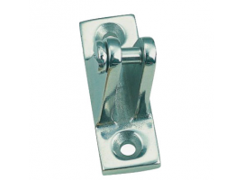 DECK HINGE ANGLED SIDE MOUNT VINOX