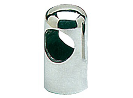 Rounded crossing handrail terminals stainless steel