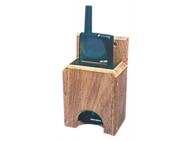 Teak Radio VHF - cellular phone holder