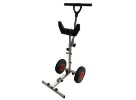 Stainless steel polished motor stand marine outboard trolley