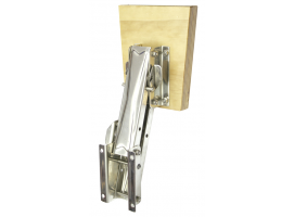 Marine Wood Stainless Steel Outboard Support Bracket Up to 7HP