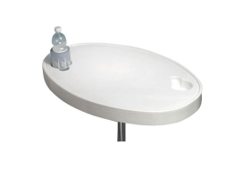 White Oval ABS Table