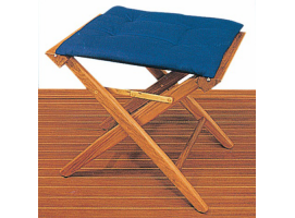 Padded stool in teak