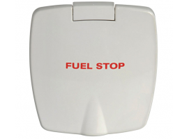 Fuel Stop New Edge White ABS Compartment