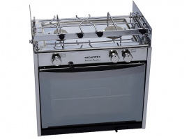 Techimpex Super compact double burner cooker Classic Shiny