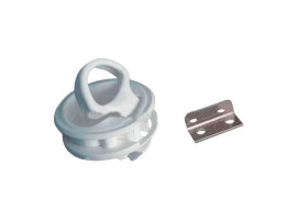 Plastic Pull White Latch without lock