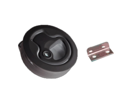 Plastic Pull Black Latch with lock
