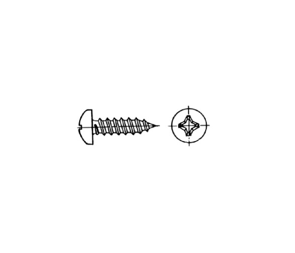 AISI 316 DIN 7981 Blister Recessed Head Screw