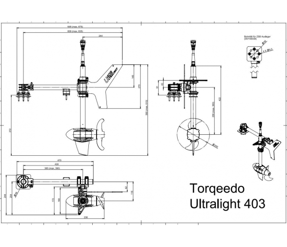 Torqeedo Ultralight 403 Electric Motor