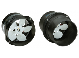 High-flow axial fans