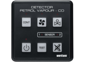 Vetus Gasoline and Carbon Monoxide Steam Detector Panel