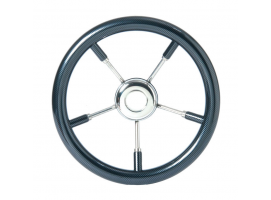 Steering Wheel Carbon 350 mm with Stainless Steel Spokes