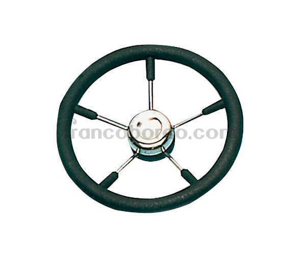 Steering Wheel 320 mm Polyurethane with Stainless Steel Spokes