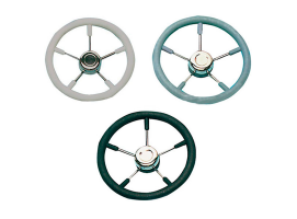Steering Wheel 350 mm Polyurethane with Stainless Steel Spokes