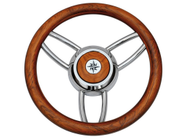 Teak 350 mm Bliz Steering Wheel
